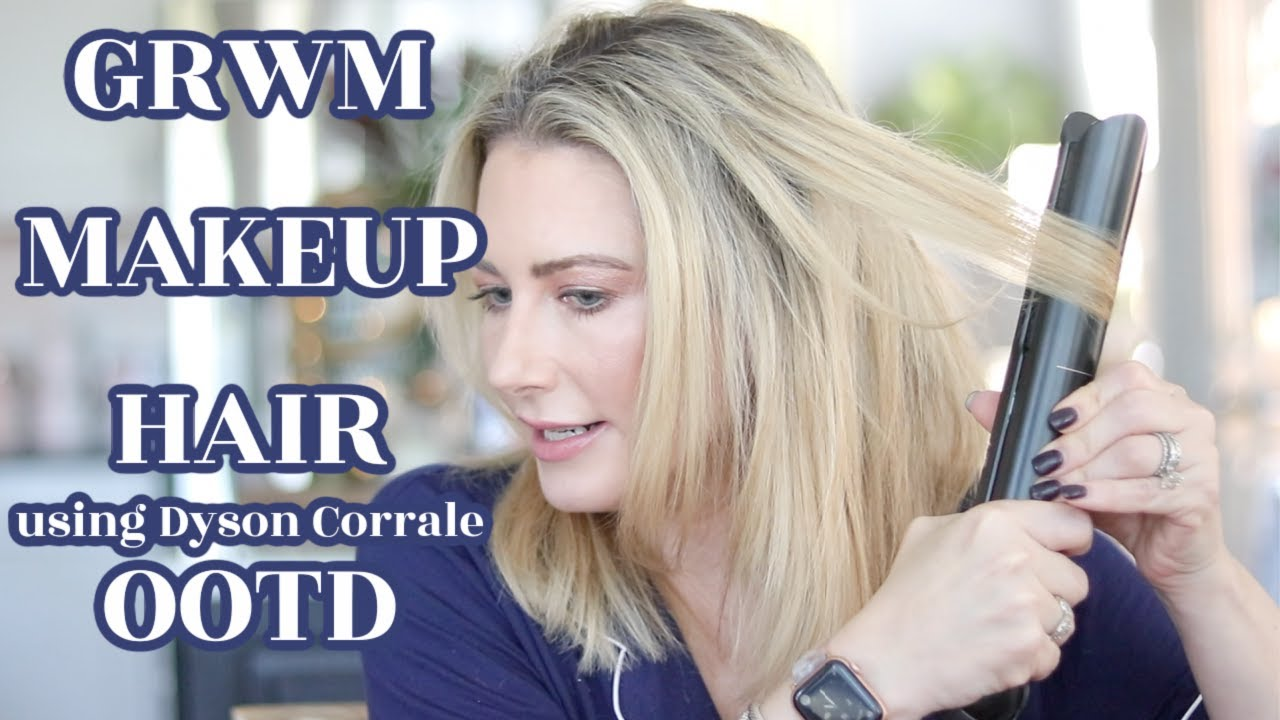 Get Ready With Me   Makeup   Hair (Dyson Corrale)   OOTD   MsGoldgirl