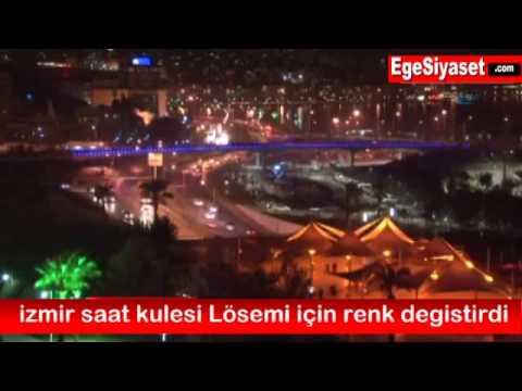 İzmir Saat Kulesi LÖSEMİ İçin Renk Değiştirdi