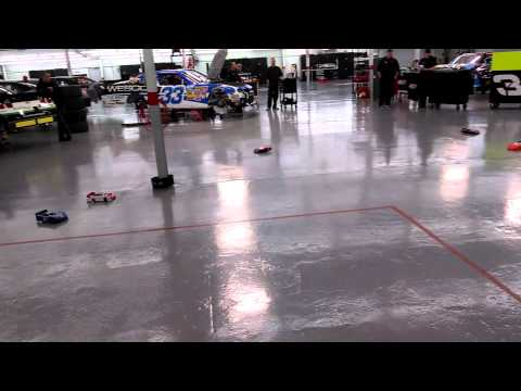 RC racing in the RCR Nationwide garage