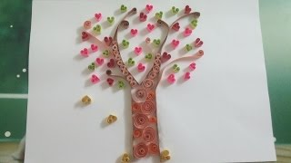 How To Make A Quilling Love Tree Picture - Simple and Beautiful