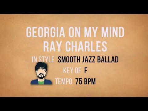 Georgia On My Mind - Smooth Jazz Male Karaoke Backing Track