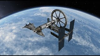Epic rotating space station in KSP