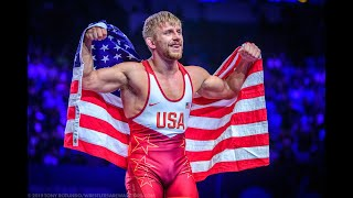Kyle Dake wins his second World Title over Hasanov at the 2019 World Championships