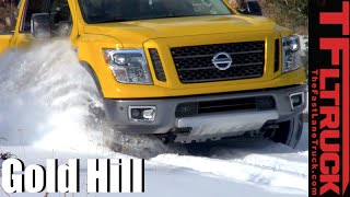 2016 Nissan Titan XD Diesel takes on the Snowy Gold Mine Hill Off-Road Review