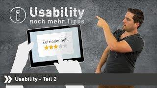 Wie verbessere ich die Usability meiner Website? | Teil 2