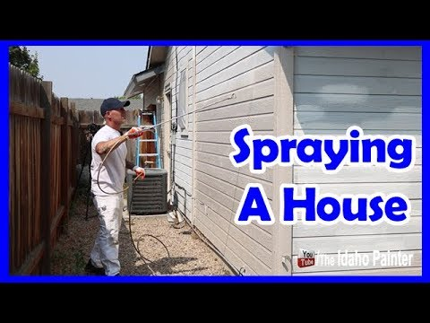 How To Paint A House With An Airless Paint Sprayer - YouTube