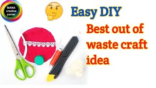 Best out of waste craft idea easy diy#useful organizer craft from waste bottle cap#waste material...