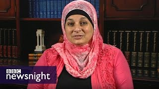 Rose Hamid: Kicked out of Trump rally for T-shirt and hijab - BBC Newsnight