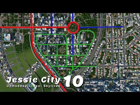 เทคนิคการวางผังเมืองขั้นเทพ (การันตีรถไม่ติดจริง) | Unmodded Cities: Skylines – Jessie City 10