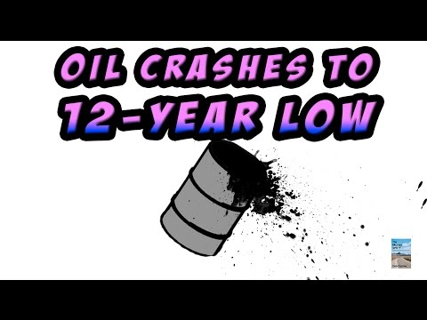 $20 Oil? Crude Oil Hits 12 YEAR LOW! Here's Why.
