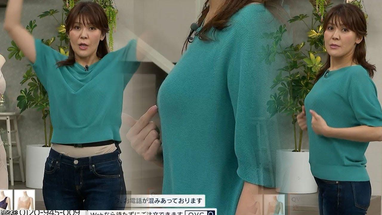 長谷井えみ子【QVC】いつも「やらかしてくれる」えみ子さんっ…今日はジーンズからしっかりと「ハミ出して」ますよっ!
