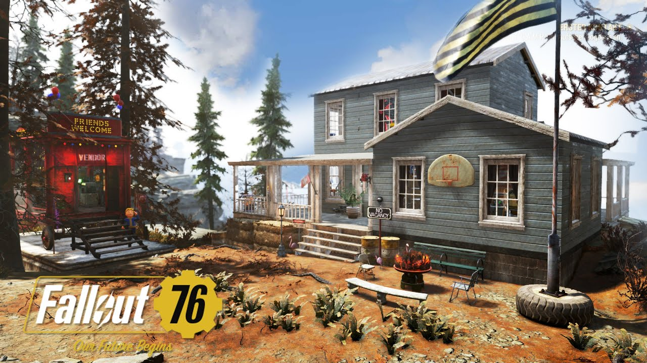 Fallout 76: New Favorite Camp Location (Contemporary House Build)
