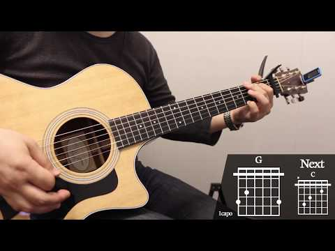 all-falls-down---alan-walker-guitar-cover-for-beginner-playing-by-[musicdrawing]