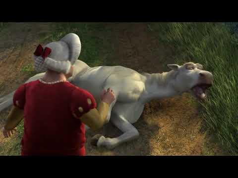 Shrek 2 - Shrek turns into a man scene