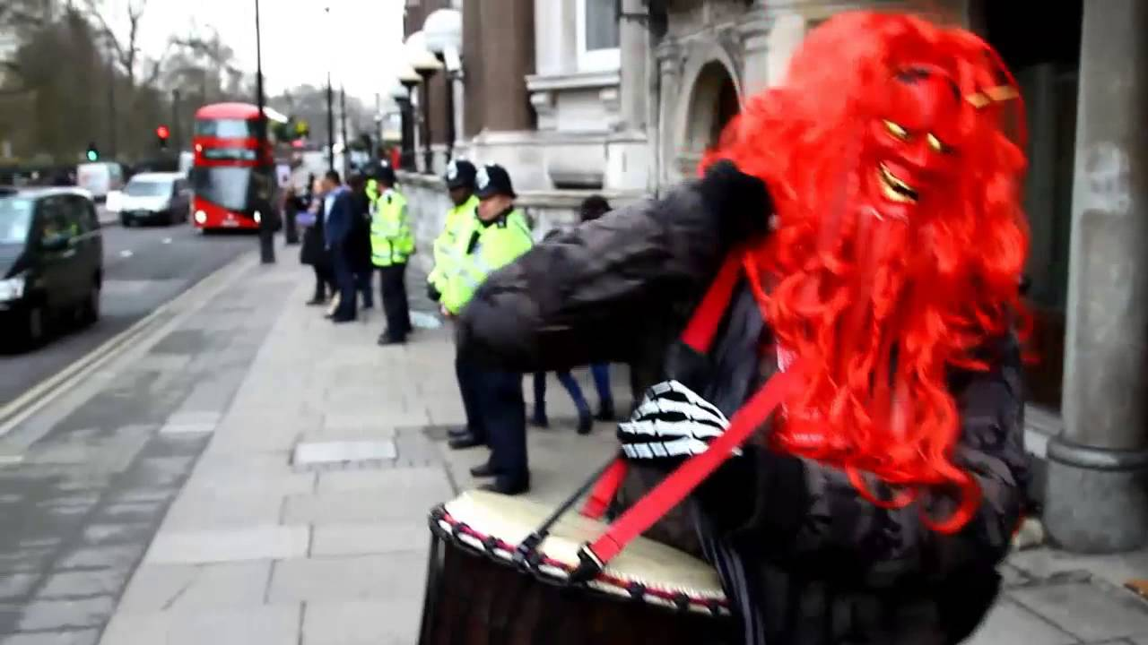 STOP TAIJI Demo - JAPANESE EMBASSY  - LONDON against Dolphin Slaughter and Captivity