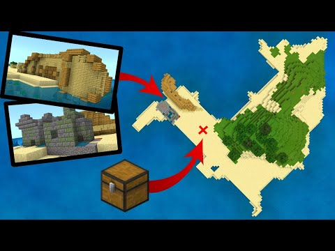 The BEST SHIPWRECK ISLAND SEED For MINECRAFT! (Pocket Edition, PS4, Xbox, Switch, W10)