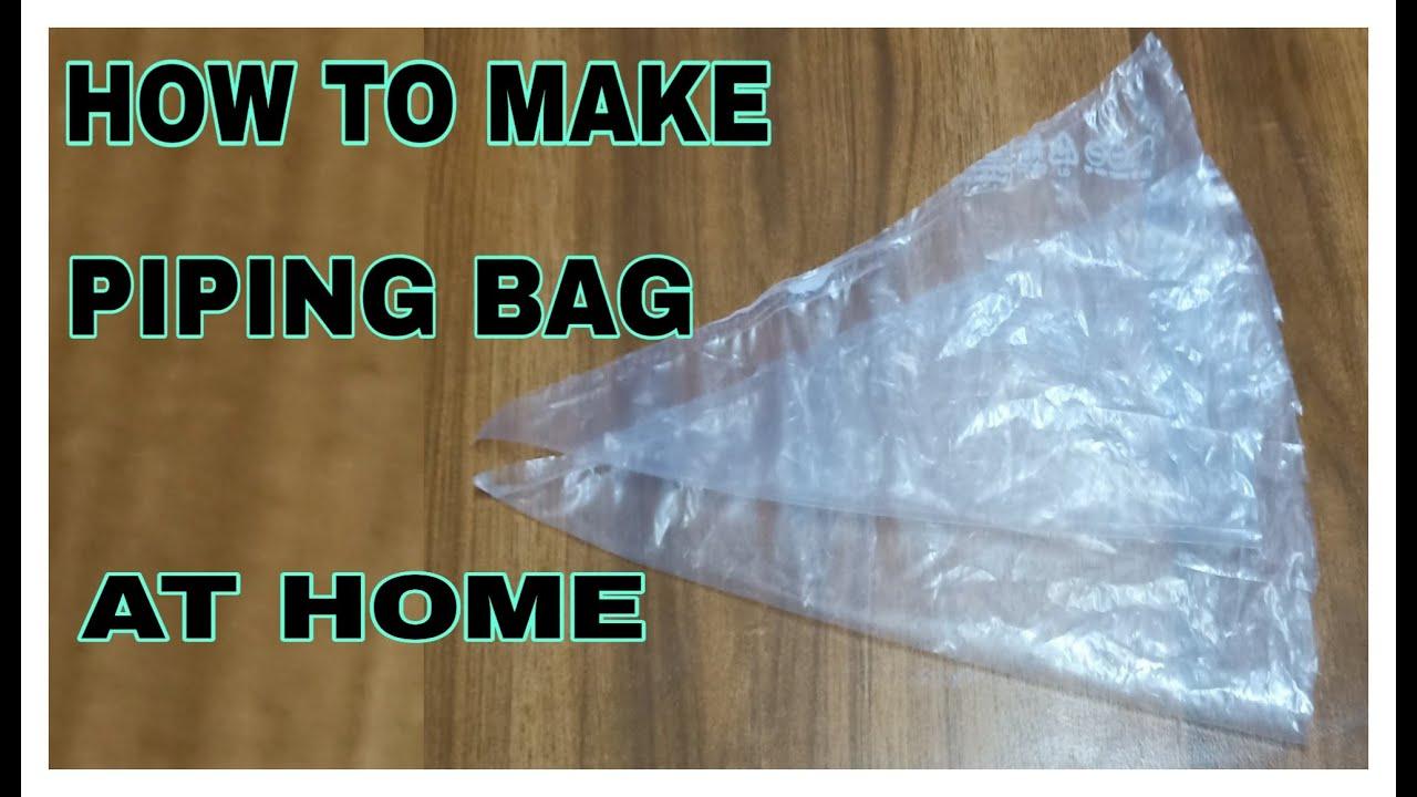 Homemade Piping Bag / How To Make Piping Bag At Home