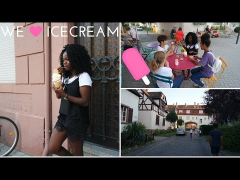 VLOG:ICECREAM HUNTING IN WORMS GERMANY/ FUNNY NO FILTER