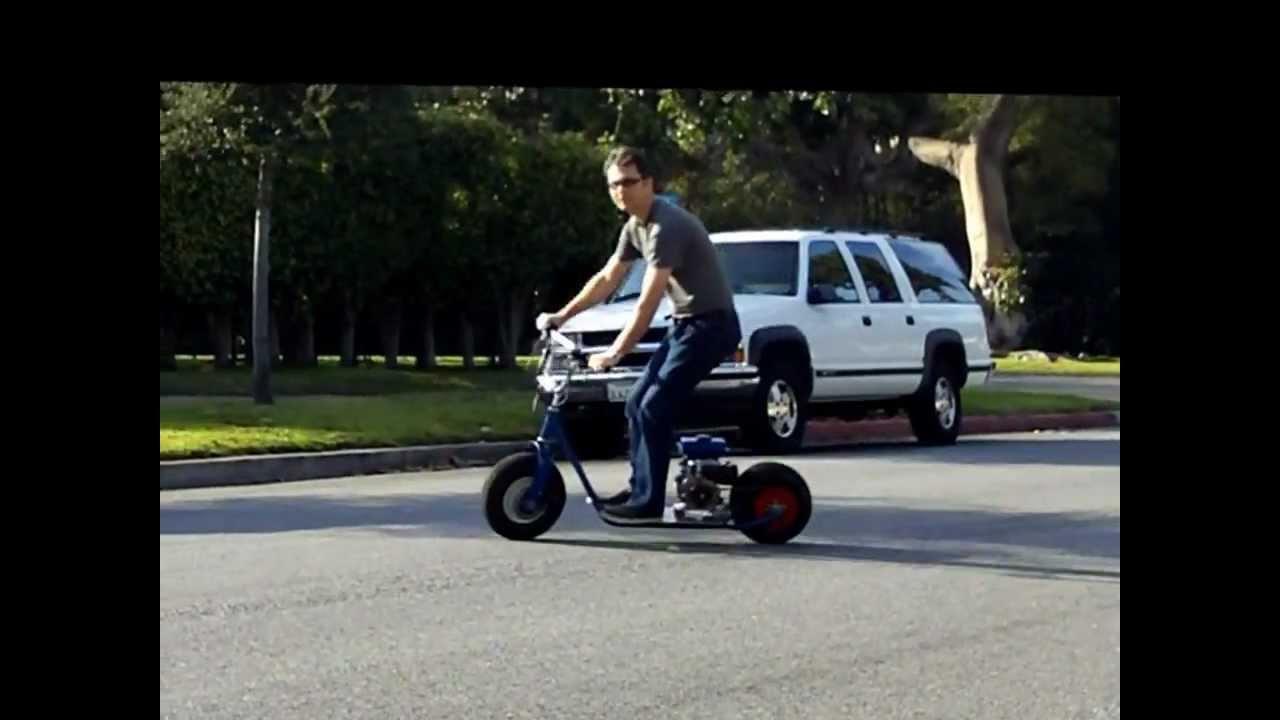 Motorized Motor Monster Scooter Diy Homemade Youtube