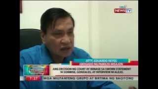 BP: Mga suspek sa pagpatay kay former Ratsada anchorman, hinatulan ng reclusion perpetua