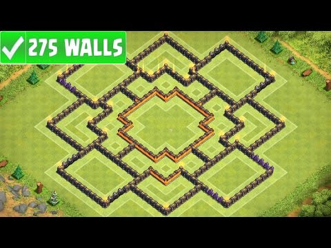 """Clash Of Clans   """"NEW"""" BEST TOWN HALL 10 (TH10) FARMING BASE w/275 Walls   New Update 2016"""