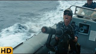 Инопланетяне уничтожают морской флот. Морской бой.