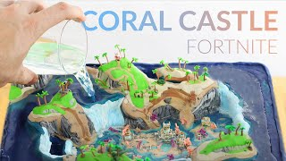 Drowning my clay CORAL CASTLE and then Rescuing with WATER PUMP (Fortnite Battle Royale)