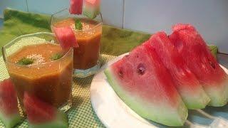 Cómo Hacer Un Gazpacho De Sandía Sin Gluten | Watermelon Gazpacho | Receta Fácil