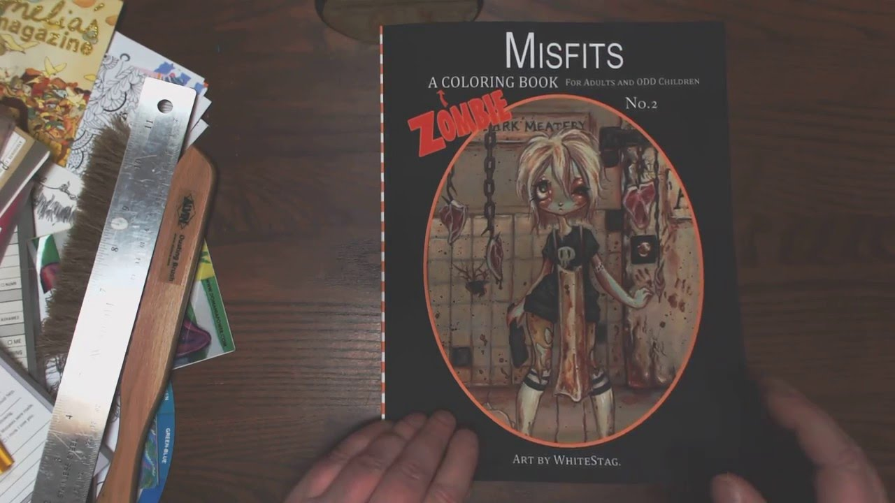 misfits a zombie coloring book vol 2 youtube - Zombie Coloring Book