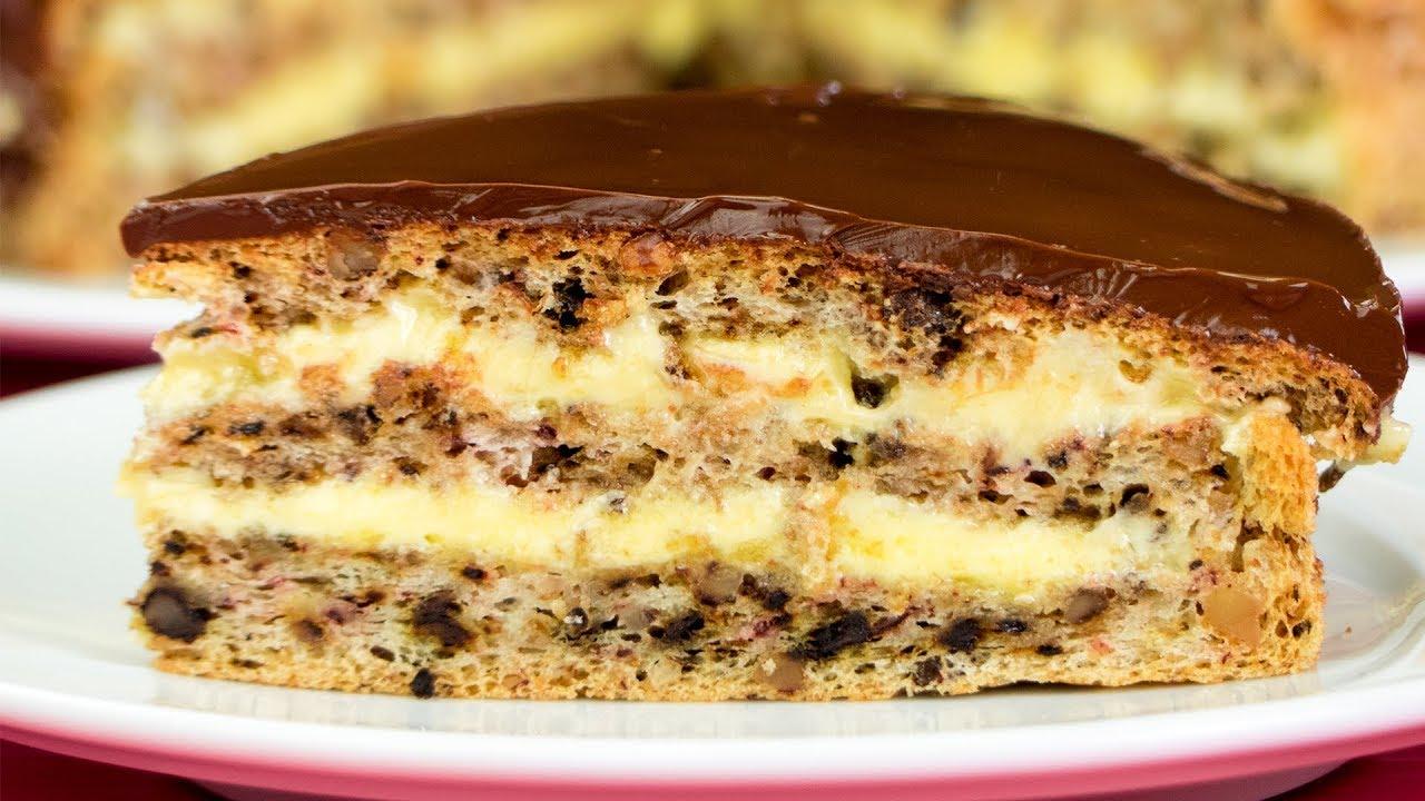Рецепт самого вкусного орехового торта, покорит вас ...