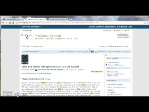 ProQuest Citation Tool