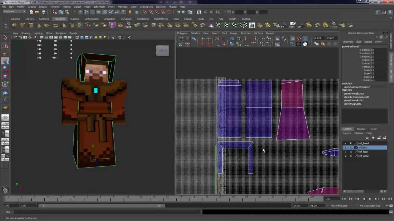 Tips on 3d modeling for minecraft mods youtube Minecraft 3d model maker