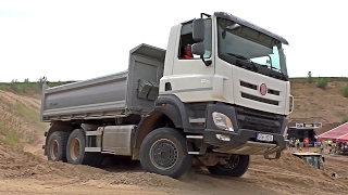 Tatra Phoenix 6x6 load by Cat 966M