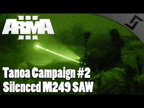 Silenced M249 SAW - ARMA 3 Apex DLC - Tanoa Campaign #2