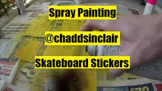 Spray Painting - @chaddsinclair Skateboard Stickers