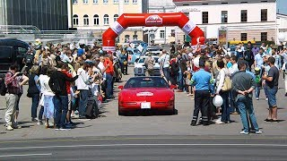 "Андрей Шорец на Chevrolet Corvette открыл ""Олдтаймер-ралли Минск - 2017"""