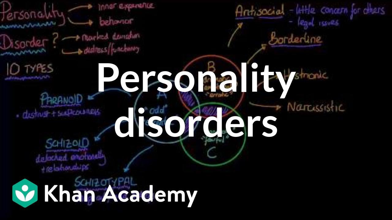 Personality disorders (video) | Behavior | Khan Academy