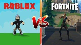 FORTNITE DANCES IN ROBLOX   ROBLOX VS FORTNITE  