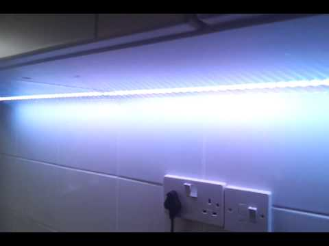 50 50 RGB led lights under kitchen cabinets. - YouTube