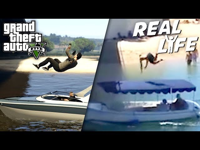 GTA 5 VS REAL LIFE 12 ! (fun, fail, stunt, ...)