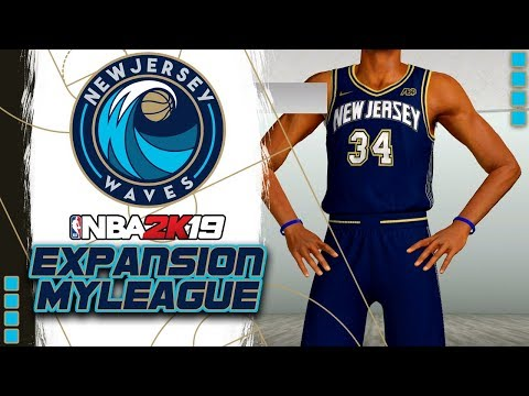 The Debut of New Jersey Waves Basketball | NBA 2k19 MyLeague Expansion - Ep.1