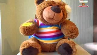 Видеообзор: Говорящий игрушка Медведь-сказочник с USB кабелем, можно загружать сказки