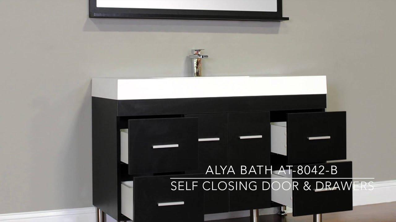 Bathroom Vanity Black Alya Bath At 8042 B 47 Single Modern Bathroom Vanity Black