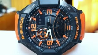 обзор и настройка CASIO G-SHOCK GA-1000-4A (Review and setting)