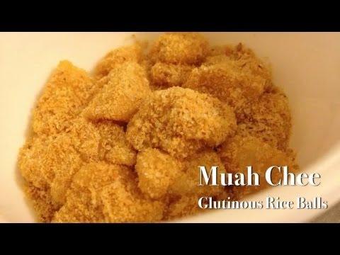 Muah Chee Glutinous Rice Balls Youtube