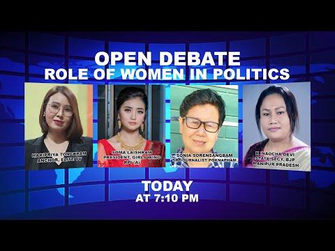 OPEN DEBATE ON Role of women in Politics   14th October 2021
