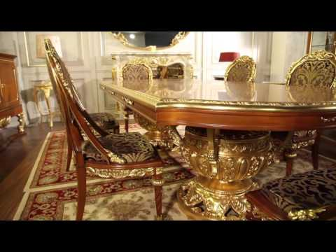 Furniture classic living room Versailles: the luxury of the Louis XVI style in the dining room
