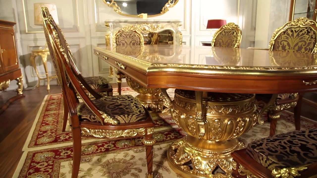 Furniture Classic Living Room Versailles: The Luxury Of The Louis XVI Style  In The Dining Room   YouTube