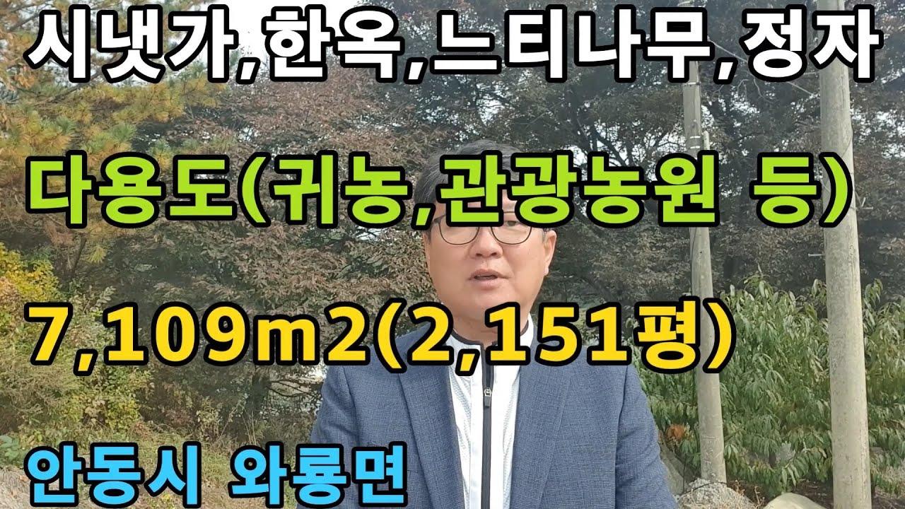 경북 안동시 와룡면 안동부동산 안동땅 시골땅 매매
