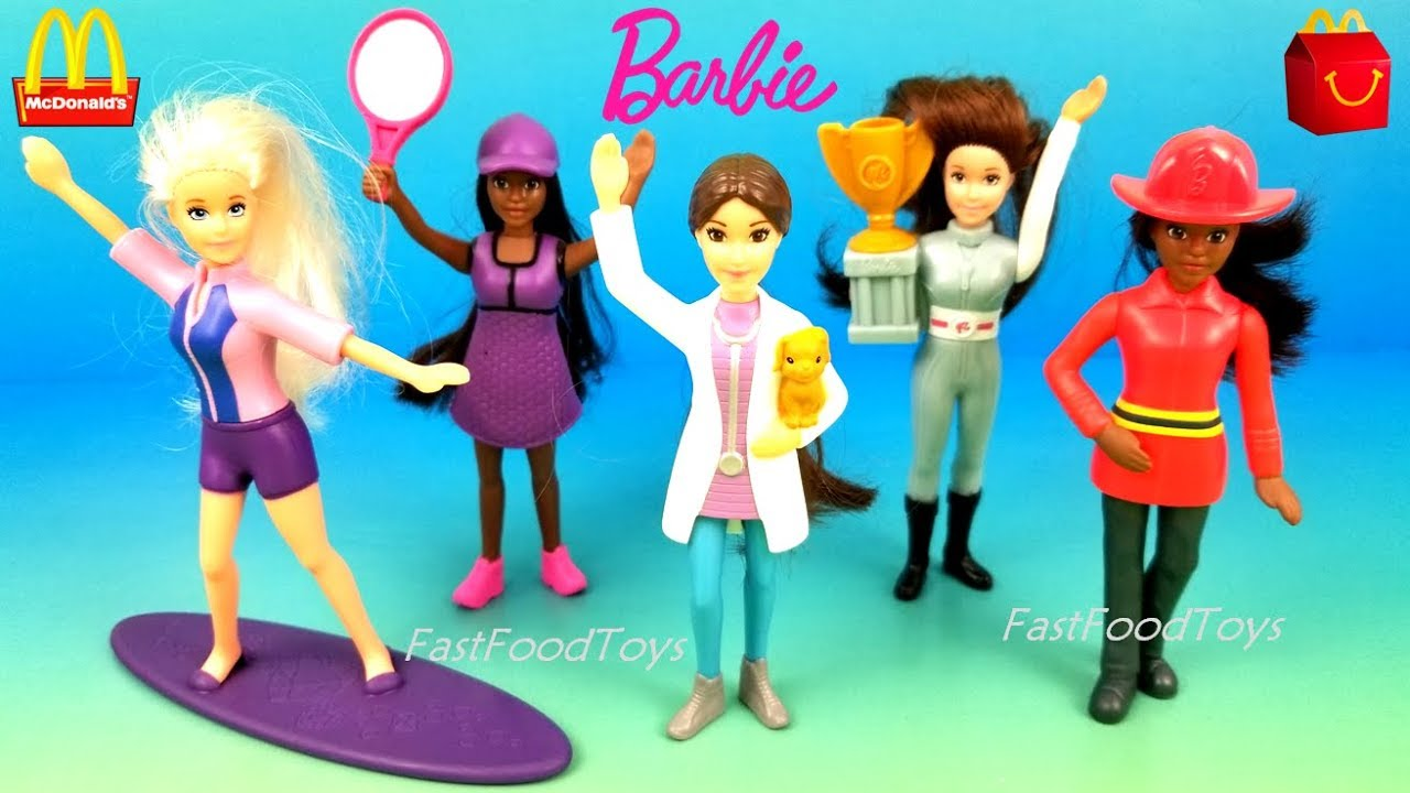 MCDONALD/'S 2019 BARBIE NEW IN PACKAGES WITH BONUS HAPPY MEAL BOX
